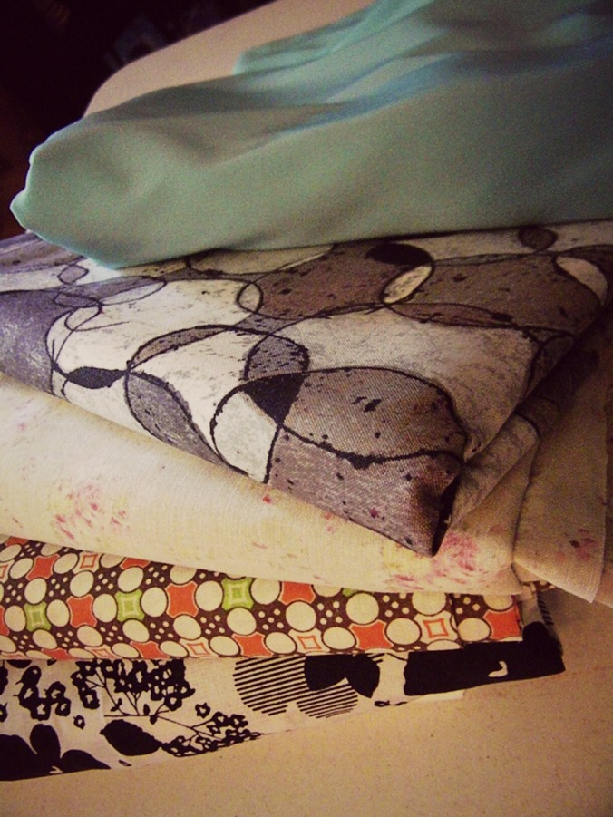 Some of the fabrics I've been playing with