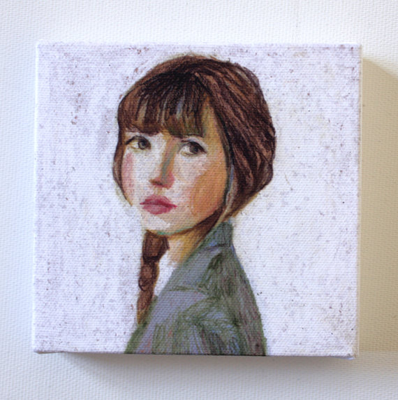 """Sarah"" by tushtush.  I have a special love of portraits of women, and this one would be such a great addition to my collection.  Really, I'm not sure why I haven't ordered it already..."