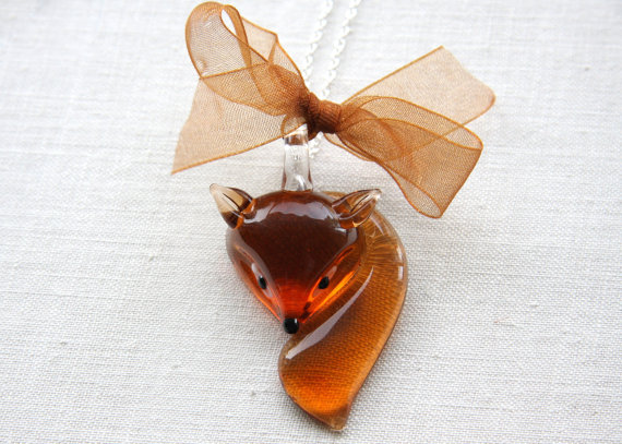 Fox Necklace by KapKaDesigns.  I just found this today, and had to share!