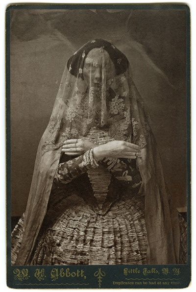 The Ghost Woman, vintage sideshow performer.