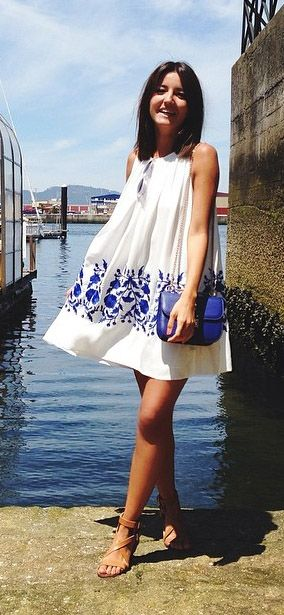 Embroidered tent dress