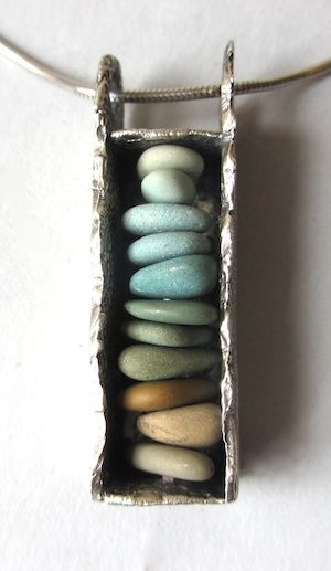 "Pebblestack Pendant-""Heart Cairn""- by Binks Edmonds"